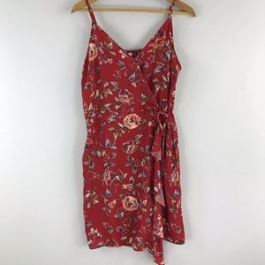 NWOT red floral sundress